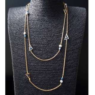 HANDMADE! Aquamarine Crystal Necklace 30053