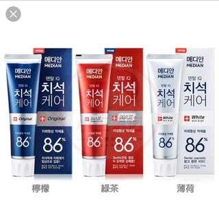 韓國牙膏(代購)3種口味(散買10蚊支)~3支價28蚊