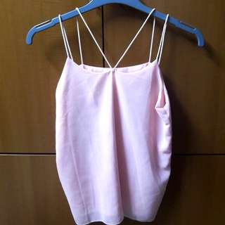Baby pink strappy Cami Top