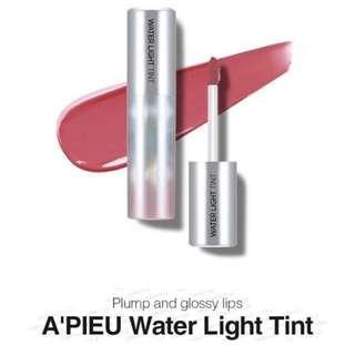 A'PIEU Water Light Tint Lipstick liptint korean makeup k-beauty new hot gloss nude shiny moisturising hydrating for lips cute pretty korea trendy trending fashion cosmetic brand new unopened KPOP