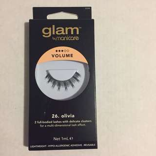 Glam by manicare no.26 olivia lashes (false eyelashes)
