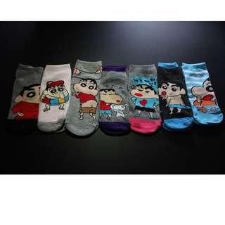 Cute Crayon Shin-Chan socks - Instocks (La bi xiao xin)