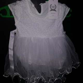 Christening Dress and Shoes for baby girl