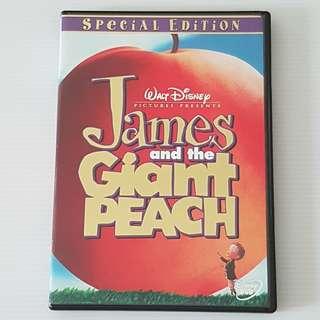 Walt Disney James and The Giant Peach, DVD