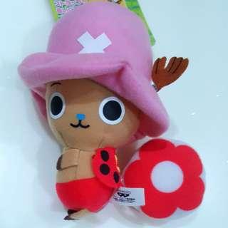 BN Japan Banpresto One Piece Tony Chopper Plush Accessory Charm Doll with Strap