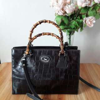 Dooney & Bourke Croc Leather Sling Bag