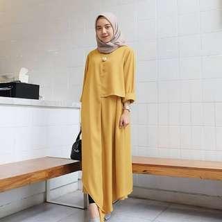 LG1 Long tunik nuria fashion muslim wanita