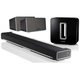 Sonos full set Theater Package with Play 3 X 3