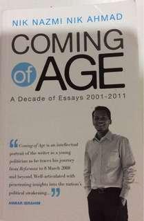 Coming of Age oleh Nik Nazmi Nik Ahmad