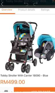 (Only JB) 100% NEW Robby 2 in 1 stroller + carrier