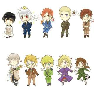 Axis Powers Hetalia APH stickers