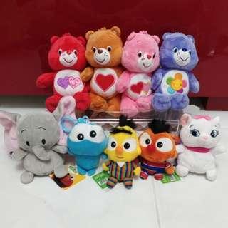 Mixed plush toys Care bear Sesame street Disney Harry Potter Sanrio