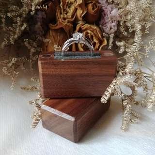 ✴️Handmade Wooden Slim Engagement Ring Box (Walnut Wood)💍