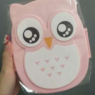 Owl pink lunch box