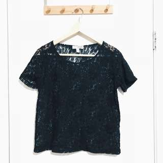 Cotton On Black Lace Top