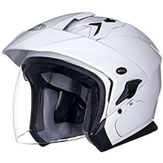 Bell Mag-9 Mag 9 SIZE SMALL LARGE ONLY Adult Open face Street Motorcycle Motorbike Helmet Solid Pearl White (D.O.T.-Certified)