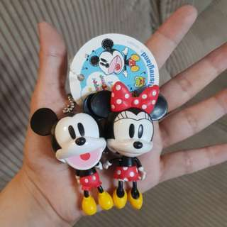 Disney Mickey and Minnie Mouse Keychains