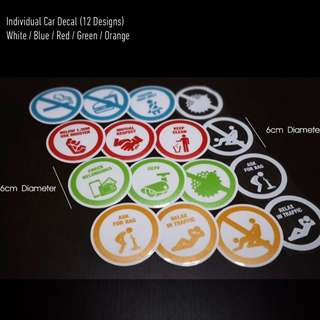 Educational PHV Car Decal (Individual Icon)