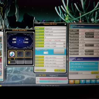 Maplesea Aquila. Selling whole asiasoft account, with kinesis level 201 and night lord main level 203. Both 5th job. Offer me ty
