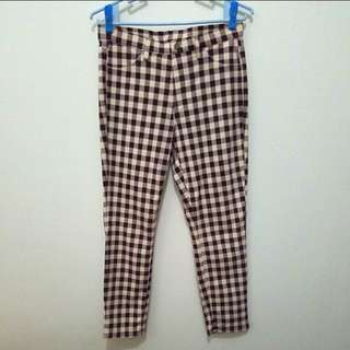 UNIQLO Gingham Checkered Jeggings