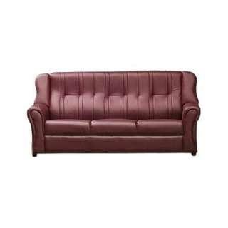 !新生活家具!《萬象更新》酒紅色 皮沙發 三人座沙發 三人位沙發 鱷魚皮 珠光皮 法式 古典 台灣製造 工廠直營