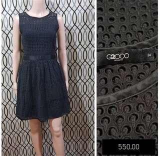 G2000 BLACK EYELET DRESS