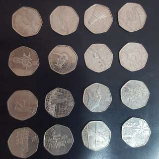 Britain Fifty Pence sports collection
