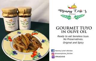Gourmet Tuyo in Olive Oil, Spicy by Mommy Lorie's Kitchen