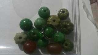 玉器品類系列(玉石手串珠)(玉石介指)【市價$98】