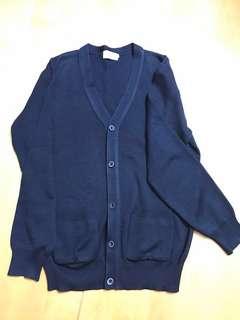 深藍色上學外套