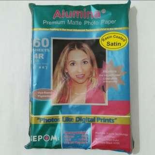 5 Pieces Matte Photo Paper 4R Size, Alumina Premium Matte Photo Paper Rasin Coated Satin