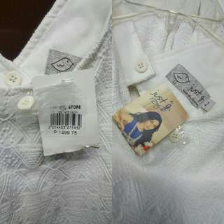Just G White Dress casual wear