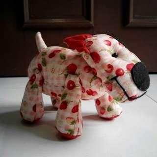 Handmade stuffed dog