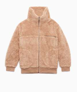 Aritzia Wilfred Free Goudy teddy coat