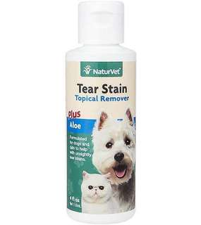 NaturVet Tear Stain Remover Topical Aid for Cats & Dogs 118ml
