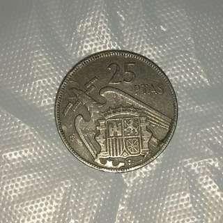 西班牙硬幣1957年
