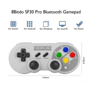 8BITDO SF30 PRO 2.4G GAMEPAD FOR SNES / SFC CLASSIC EDITION (WHITE)