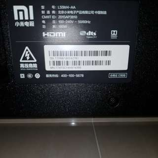 "55 "" Xiaomi TV Screen only. No sound bar."