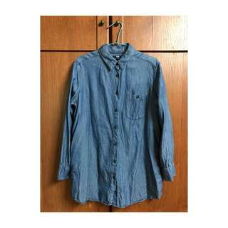 藍色uniqlo襯衫