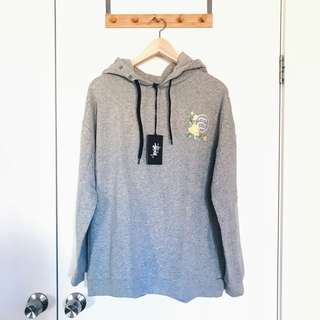 Stussy Dandy Pop Grey Hoodie Jumper