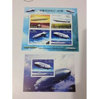 朝鮮郵票 - 飛船