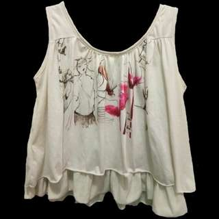 REPRICE!  Cute vintage layer top