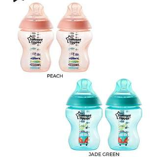 Tommee tippee closure to nature Twin bottles 260ml new color