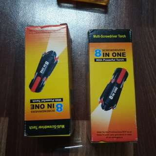 8 in 1 Screwdrivers with Powerful Torch