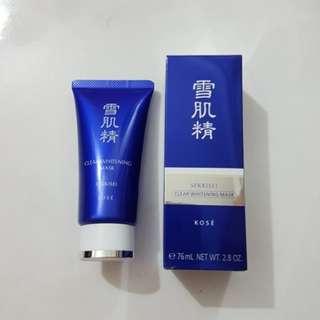 BNIB Kose Sekkisei Clear Whitening Mask