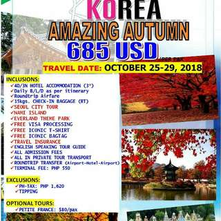 Korea Autumn Package Tour
