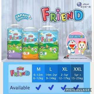 *Ready Stock* Goo.N Friend Doraemon Diaper Pants/Pull-up   M58 / L48 / XL42 / XXL34 Japan Quality