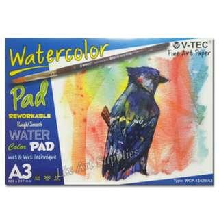 V-TEC Watercolor Pad