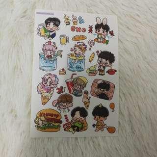 Exo Stickers flowercookiexo matte