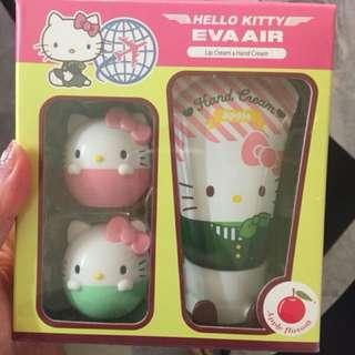 Hello kitty hand cream and lip balm